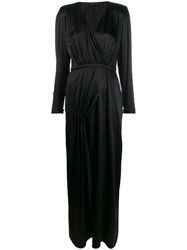 Federica Tosi Wrap Style Front Dress Black
