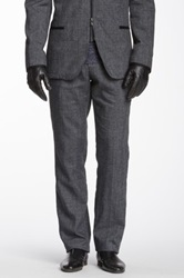 Star Usa By John Varvatos Slim Fit Linen Blend Pant Gray
