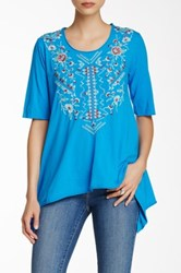 Johnny Was Molly Trapeze Tee Plus Size Available Blue