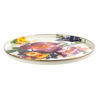 Mackenzie Childs Flower Market Round Tray White
