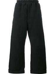 By Walid Wide Leg Trousers Black