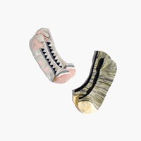 Madewell Two Pack Spring Geometric And Space Dye Low Profile Socks Hthr Grey Multi