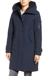 French Connection Women's Hooded Parka Utililty Blue