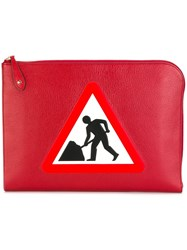 Anya Hindmarch 'Men At Work' Document Case Red