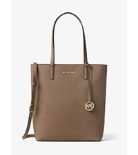 Hayley Large Top Zip Leather Tote