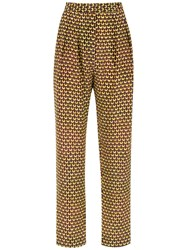 Andrea Marques Tapered Trousers Multicolour
