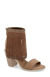 Women's Very Volatile 'Lux Fringe' Sandal Taupe Faux Leather