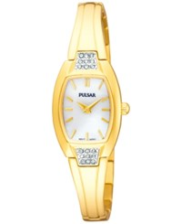 Pulsar Women's Gold Tone Stainless Steel Bangle Bracelet Watch 19Mm Pta506