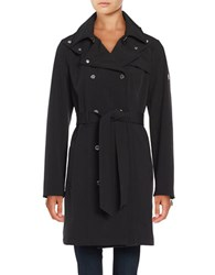 Calvin Klein Plus Button Front Trench Coat Black