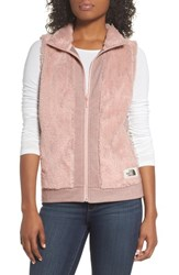 The North Face Faux Fur Vest Evening Sand Pink