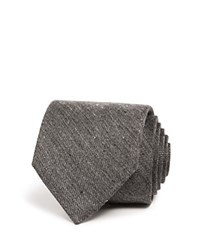 Bloomingdale's The Men's Store At Donegal Tweed Solid Classic Tie Charcoal