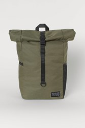 Handm H M Backpack With Roll Top Opening Green