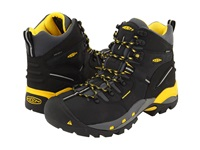 Keen Utility Pittsburgh Boot Black Yellow Men's Work Boots Gray