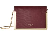 Ted Baker Zanna Maroon Cross Body Handbags Red
