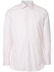 Gieves And Hawkes Checked Shirt Pink And Purple