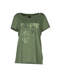 Meltin Pot Topwear Short Sleeve T Shirts Women Green