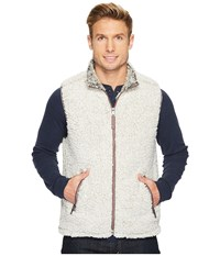 True Grit Frosty Tipped Pile Double Up Vest Putty Taupe