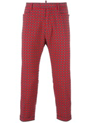 Dsquared2 Tartan Cropped Trousers