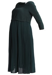 Mama Licious Mlsadie June Summer Dress Pine Grove Dark Green
