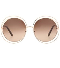 Chloe Carlina Round Sunglasses Gold