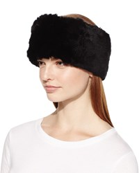 Surell Rex Rabbit Fur Headband Black