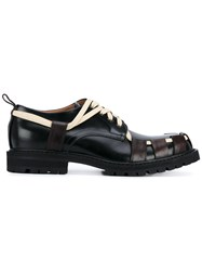 Dries Van Noten Exposed Lace Up Derby Shoes Men Leather Rubber 42 Black