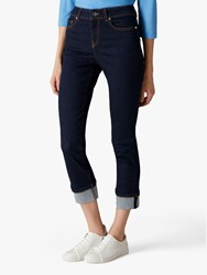 Jaeger High Rise Turn Up Jeans Indigo