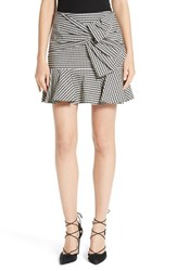 Veronica Beard Women's Picnic Check Bow Miniskirt