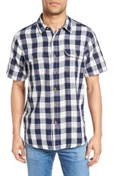 Tailor Vintage Men's Buffalo Plaid Sport Shirt Navy Buffalo Gingham