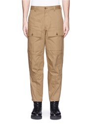 Acne Studios 'Pat' Cotton Twill Workwear Chinos Brown