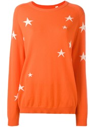 Chinti And Parker Star Intarsia Jumper Yellow Orange