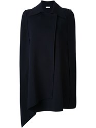 Scanlan Theodore Knit Trench Cape Blue