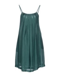 Manila Grace Knee Length Dresses Emerald Green