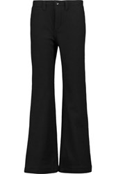 Nlst Wool And Cashmere Blend Felt Wide Leg Pants Midnight Blue