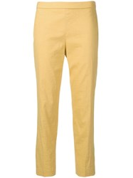 Theory Slim Fit Cropped Trousers Orange