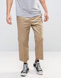 Stussy Trousers In Straight Fit Khaki Stone