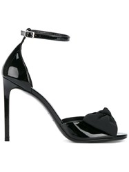 Saint Laurent Jane Bow Sandals Black