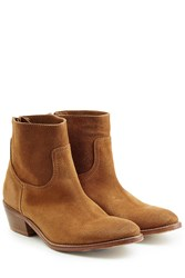 Zadig And Voltaire Teddy Suede Ankle Boots Camel