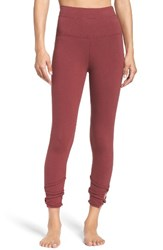 Hard Tail Women's High Waist Crop Leggings Smoky Rose