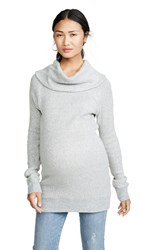Ingrid And Isabel Cowl Neck Sweater Heather Grey