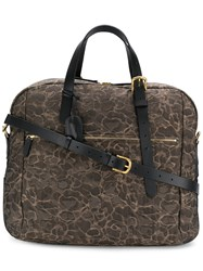 Mismo Printed Holdall Brown