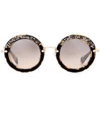 Miu Miu Noir Circle Sunglasses Brown