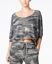 Chelsea Sky Camouflage Print Sweatshirt Only At Macy's Vintage Olive Branch