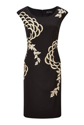 James Lakeland Embroided Detail Dress Black