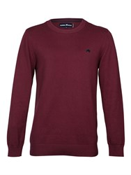 Raging Bull Cotton Cashmere Crew Neck Red