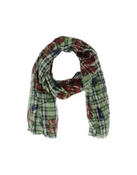 Grey Daniele Alessandrini Oblong Scarves Green