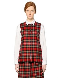 I'm Isola Marras Plaid Wool And Cotton Poplin Shirt