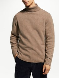 John Lewis And Co. Yak Neps Rollneck Brown