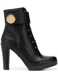 Emporio Armani Ankle Strap Ankle Boots Black