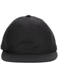 Kijima Takayuki Baseball Cap Men Cotton Calf Leather One Size Black